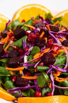 Beetroot Salad is a perfect winter side dish! Zingy colours, crunchy veg and a zesty Christmas dressing make it perfect for the festive season and beyond. Clean Eating Vegetarian, Vegetarian Paleo, Christmas Lunch, Vegan Christmas, Healthy Nutrition, Healthy Food, Healthy Recipes, Salad Box, Beet Salad Recipes
