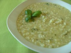 Green White Cabbage Risotto