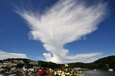 Large Cloud over the Looe River - Looe in  Cornwall
