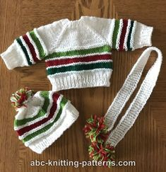 a3ae32e2be6b29 ABC Knitting Patterns - American Girl Doll Winter Sports Set Girl Doll  Clothes