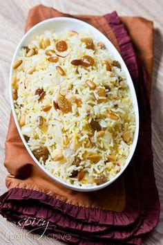 Easy Saffron Rice with Golden Raisins and Pine Nuts #vegan #glutenfree #recipes