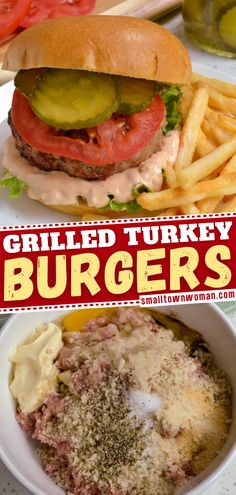 The perfect summer grilling recipe for dinner! Grilled Turkey Burger is made with just a few simple ingredients and ready in just 20 minutes! Follow these simple tips and tricks for a delicious meal everyone will love! Grilled Turkey Burgers, Turkey Burger Recipes, Summer Grilling Recipes, Grilling Ideas, Smoked Turkey, Dinner Recipes, Dinner Ideas, Yummy Food, Meals