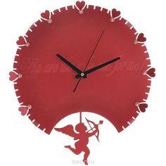 "Часы настенные ""Купидон"", с маятником, цвет: красный. 95184"