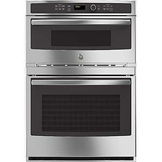 GE Café™ Series 30 in. Combination Double Wall Oven with Convection and Advantium® Technology Combination Microwave, Electric Wall Oven, Electric Stove, Stainless Steel Oven, Stainless Steel Kitchen Appliances, White Appliances, Kitchen Stove, Kitchen Redo, Single Wall Oven