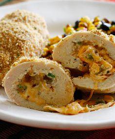 This Skinny Cheesy Jalapeno Popper Baked Stuffed Chicken looks AMAZING!!! |skinnytaste.com