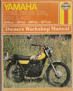 yamaha dt 250 b dt 400 b service manual vehicle rh pinterest co uk 73 Yamaha DT 250 1973 Yamaha DT 250