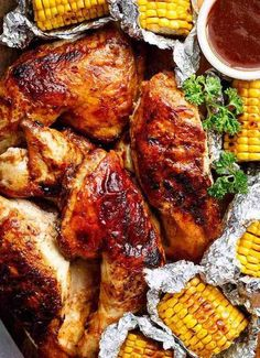 Bring your favourite Nando& chicken to the table with this Portuguese BBQ Peri Peri Chicken Recipe! PLUS the addition of juicy corn cobs in foil packets! Nando's Recipes, Whole Food Recipes, Cooking Recipes, Wing Recipes, Recipies, Nando's Chicken, Chicken Leg Recipes, Coconut Chicken, Mexican Chicken