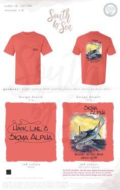 Hook Line and Sigma Alpha | Fraternity Design | Fishing Theme Design | South by Sea | Greek Tee Shirts | Greek Tank Tops | Custom Apparel Design | Custom Greek Apparel | Sorority Tee Shirts | Sorority Tanks | Sorority Shirt Designs