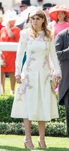 ASCOT, ENGLAND - JUNE 20:  Princess Beatrice attends Royal Ascot 2017 at Ascot Racecourse on June 20, 2017 in Ascot, England.  (Photo by Mark Cuthbert/UK Press via Getty Images)