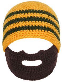 9bcd328f8290eb Simplicity Toddler's Warm Winter Crochet Bearded Beanie Hats Caps, Orange  Stripe. Knitted winter hat