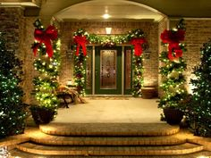 Extraordinary Photos Of Outdoor Christmas Decorations Plus Outdoor Christmas Decorating Ideas Also White Lighting Ideas With Lovely Hanging Christmas Ball Ornaments And Awesome Wreaths For The Door
