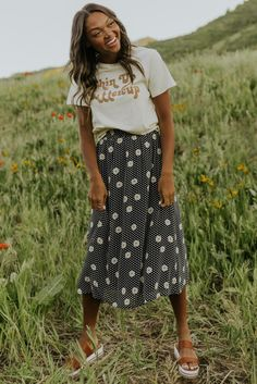 Daisy Floral Skirt - Women's Spring Styles | ROOLEE