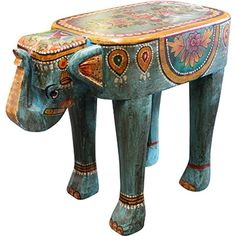 An exotically painted and fun painted seat. The Elephant Stool is perfect for a quirky home or a place that needs just a bit extra! Shop online at ISHKA. Stools, Elephant, Lounge, Shop, Fun, Benches, Airport Lounge, Drawing Rooms, Stool
