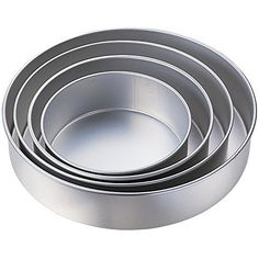 Kabalo 5pc Wedding Cake Tin Pan BAKING BAKE TRAY ROUND LAYER SET (diameters: 24, 26, 28, 32, 36cm) -- Special product just for you. : Baking pans