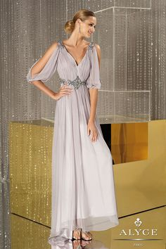 Alyce 29546, embellished silky chiffon lilac haze dress Picture