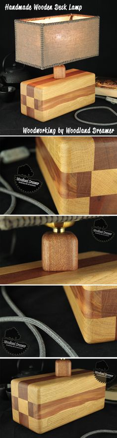 Home Decor- Wooden Table Lamp, Wooden Bedside Lamps, Wood Base Lamp, Modern Table Lamp