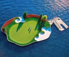 Tee off from the middle of paradise when you play a round on the floating island gold course. This luxury golf course sits upon lush fields of grass, picturesque scenery everywhere you turn, and a unique floating hole in the middle of a pristine lake.