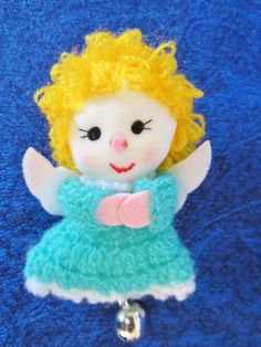 Vintage Onaments Cute Angel and Sweet by NowAndThenConnection