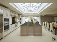 The Dirty Truth On Farmhouse Kitchen Extension 18 - kindledecor Open Plan Kitchen Dining Living, One Wall Kitchen, Family Kitchen, Living Room Kitchen, Kitchen Layout, New Kitchen, Kitchen Ideas, Kitchen Designs, Kitchen Extension Open Plan