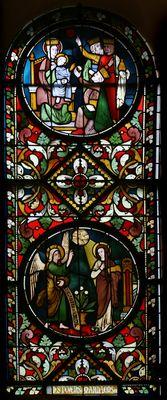 Annunciatie: Aanbidding der H. Drie Koningen -- by Atelier Frans Nicolas, ca. 1875 -- in Servatius Basiliek, Maastricht, NL