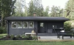 cabin w/ deck, outdoor kitchen & raised beds