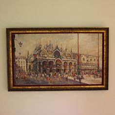 Impressionistic Oil on Canvas Painting of St. Mark's Square, Venice #Impressionism
