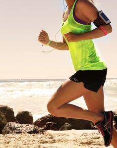 Running beach girl