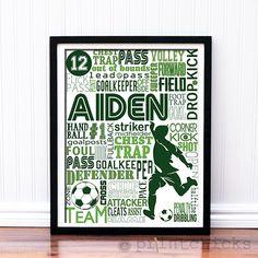 Soccer Poster - Competitive Soccer Team - Personalized Boys Soccer Decor - Soccer Team Prints - Sport Typography Print - Boys Soccer Decor - Girls Soccer – PrintChicks