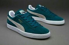 cead10a2b8af41 Clearance Puma Suede Classic+ - Deep Teal Green White