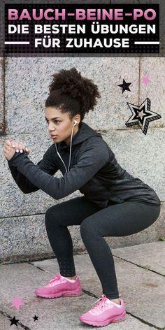 Die fünf effektivsten Bauch-Beine-Po-Übungen für Zuhause Health Benefits, Health Tips, Chili, Gym, Chile, Chilis, Healthy Lifestyle Tips