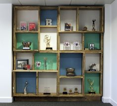Cool custom shelving unit by Relic Interiors.