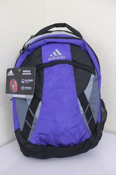 "NWT ADIDAS JAY Backpack XL Purple Gray Deluxe Organization Laptop 15.4"" Tech Fri #adidas #Backpack #ebay #adidas #Backpack #XLPurpleGray"