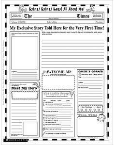 Newspaper Template For Kids   Blank Newspaper Template For Kids Printable Homework Help