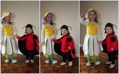 J'ai consacré ce début d'année à réaliser les déguisements de mes filles pour Carnaval.   - Ma petite s'est transformée en une adorable cocc...