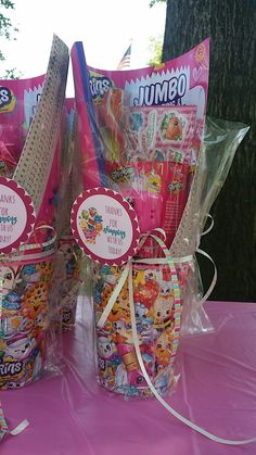 Shopkins birthday party goodie bags