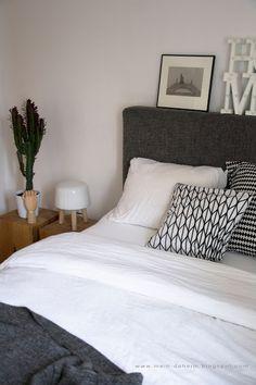 Hochwertig #bedroom #bed #boxspring #interior #interiordesign #schlafzimmer #grau  #weiß #home #ikea #bett #backenzahnhocker #backenzahn #sukkulente | Bedroom  ...