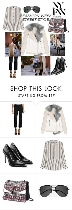 """NYFW WS18 street style"" by buddahbar ❤ liked on Polyvore featuring Rebecca Taylor, Alexander Wang, Isabel Marant and Yves Saint Laurent"