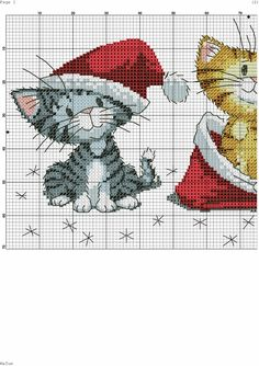 Schema Punto a Croce/Crossstitch, Point de Croix! Xmas Cross Stitch, Cross Stitch Needles, Cross Stitch Cards, Cross Stitch Baby, Cross Stitch Animals, Counted Cross Stitch Patterns, Cross Stitch Designs, Cross Stitching, Cross Stitch Embroidery