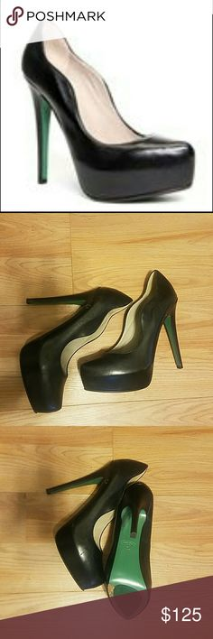 """Lisa for Donald J Pliner Platform Alexis Heels Be a trendsetter with these statement shoes! Luxurious Leather with scallop edge detail. Approximately 1 1/2"""" platform with 5"""" heel.  Only worn once. Donald J. Pliner Shoes"""