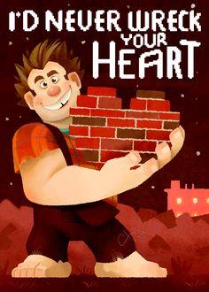 Wreck-It Ralph Valentines: Ralph by *kapieren