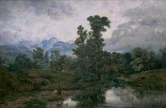 Antonio Muñoz Degrain - Paisaje del Pardo al disiparse la niebla (Museo Nacional del Prado)