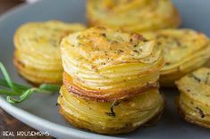 Parmesan and Rosemary Potato Stacks are an easy and delicious way to serve potatoes!