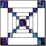 Squares and Oblongs - This is is an optical illusion.The pattern seems to recede. Quilt Block Patterns, Pattern Blocks, Tile Patterns, Pattern Art, Quilt Blocks, Free Motion Quilting, Quilting Tips, Quilting Designs, Art Quilting