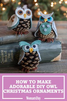 These adorable DIY Owl ornaments are an absolute hoot. These ornaments are perfect for your Christmas decorations and only take minutes to make. This easy craft will be an adorable addition to your DIY holiday displays.