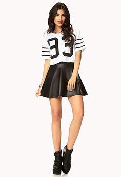 Faux Leather Skater Skirt | Forever 21
