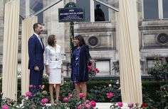PRINCESS MONARCHY - Spanish State Visit to France. Visit to the city of Paris hotel.