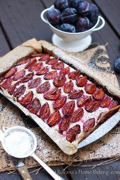 A subtly rustic, invitingly beautiful summer stone fruit dessert: Plum Cake. #food #plums #cake