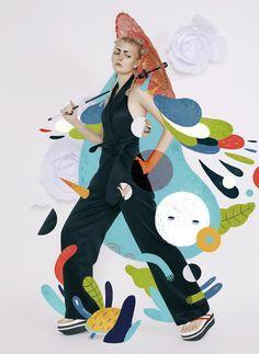 aditya pratama — Harper`s Bazaar Art Indonesia Magazine JAPONISM...