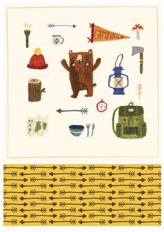 Camping Bear - Lisa Barlow (Martin)