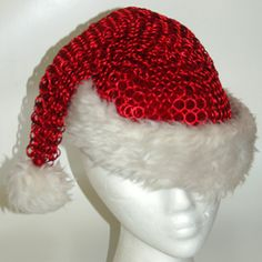 Chain Maille Santa hat. I will be making this for next year.